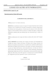 DECRETO-LEGGE 21 giugno 2013, n. 69 (c.d. Decreto del Fare)