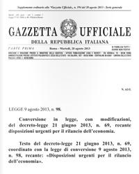 """Convertito in Legge il """"Decreto del Fare"""""""