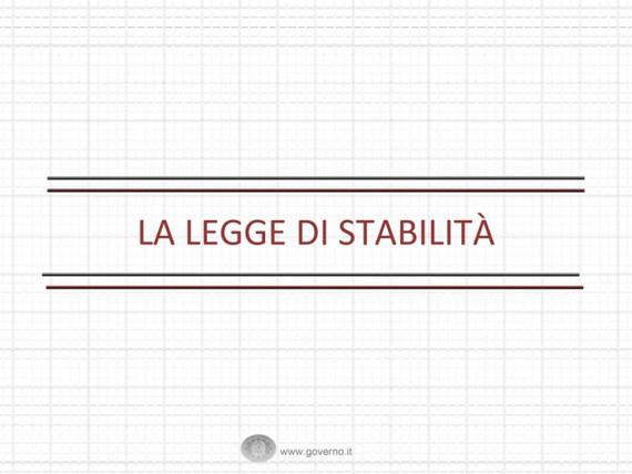 LEGGE DI STABILITA' 2014