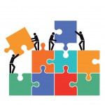 Zusammenarbeit in der Gruppe icon illustration